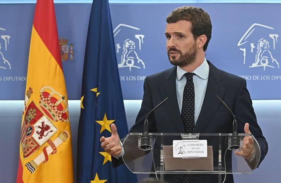"""Casado mantiene que la intención de Sánchez """"siempre fue ir a elecciones"""""""