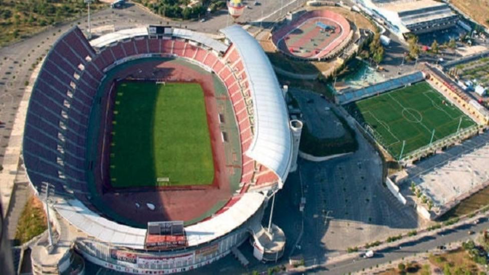 Imagen aérea del estadio de Son Moix y sus alrededores