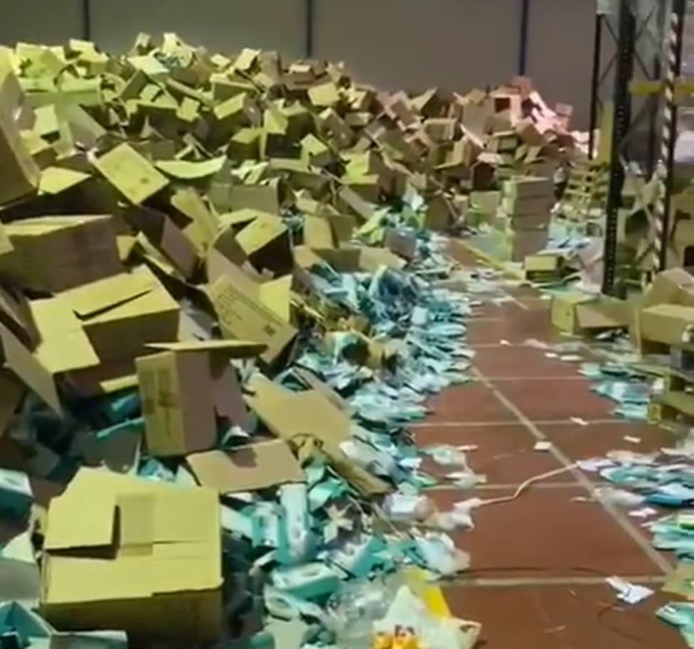 Detenido un empresario de Santiago por el robo de casi 2 millones de mascarillas en una nave industrial