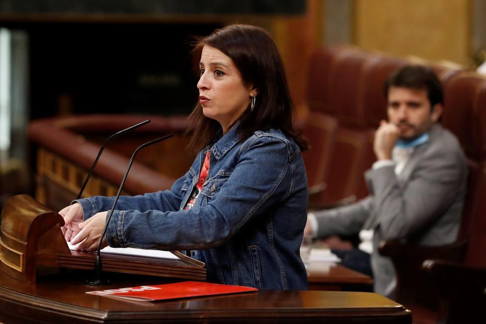 El despiste de Adriana Lastra en la votación de la prórroga del estado de alarma