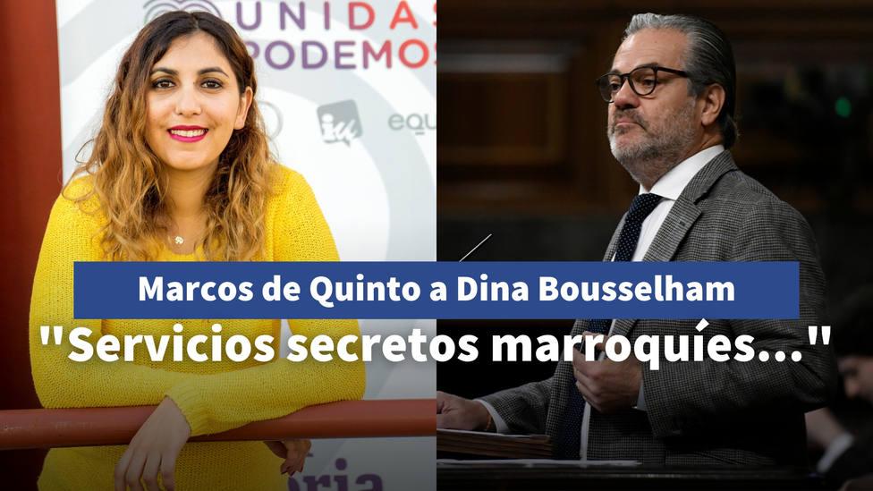 La insinuación de Marcos de Quinto sobre Dina Bousselham: Los servicios secretos marroquíes...