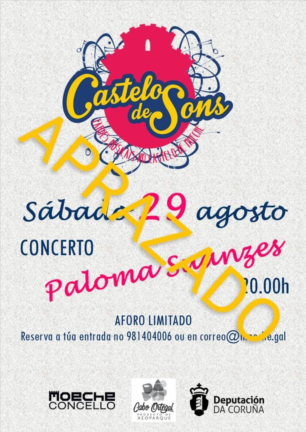 Se aplaza el concierto de Paloma Suances en Moeche - FOTO: Concello Moeche