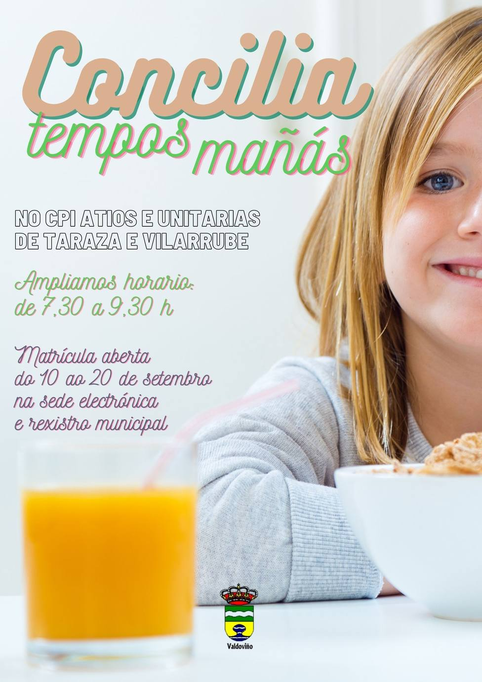 Cartel anunciador Concilia Tempos Mañás de Valdoviño
