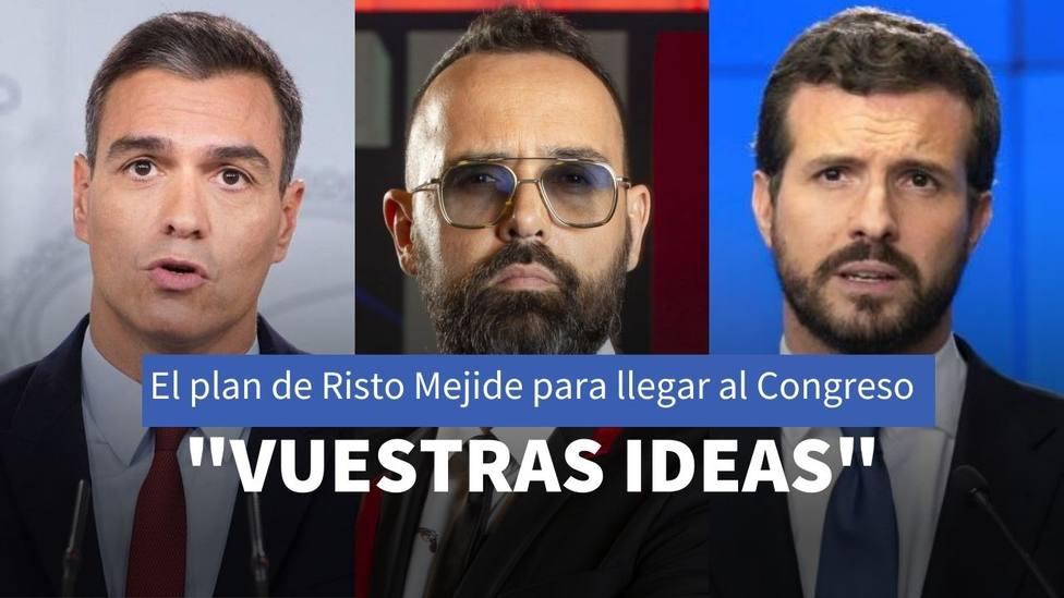 Risto Mejide da el salto a la política con un plan para presionar la legislatura de Sánchez como presidente