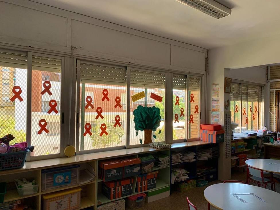 Aula de un colegio valenciano hoy