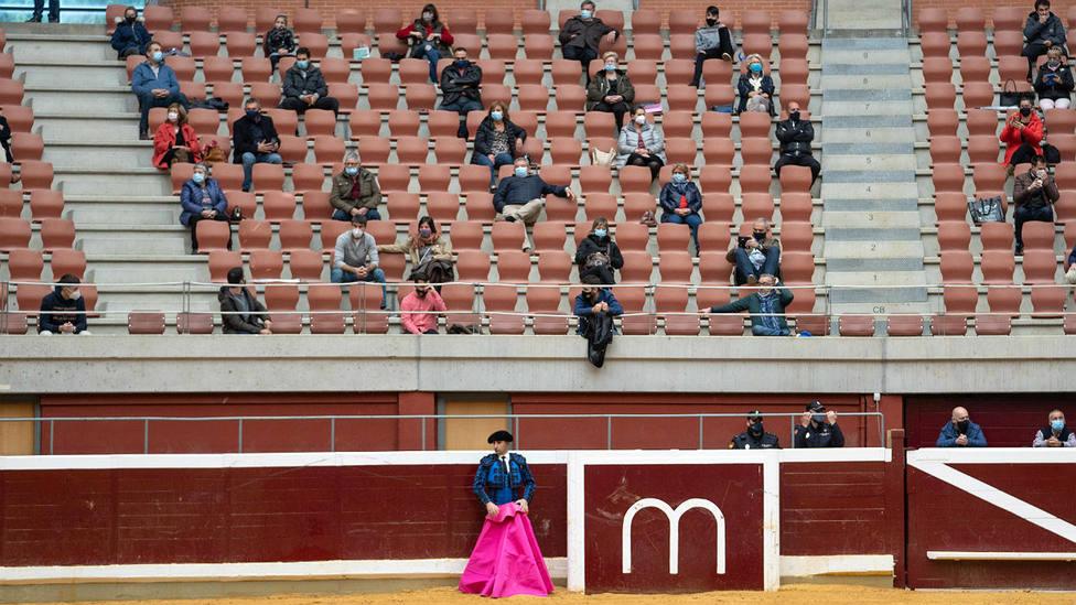 Tendidos de la plaza de toros de Logroño durante el festejo de rejones celebrado en septiembre