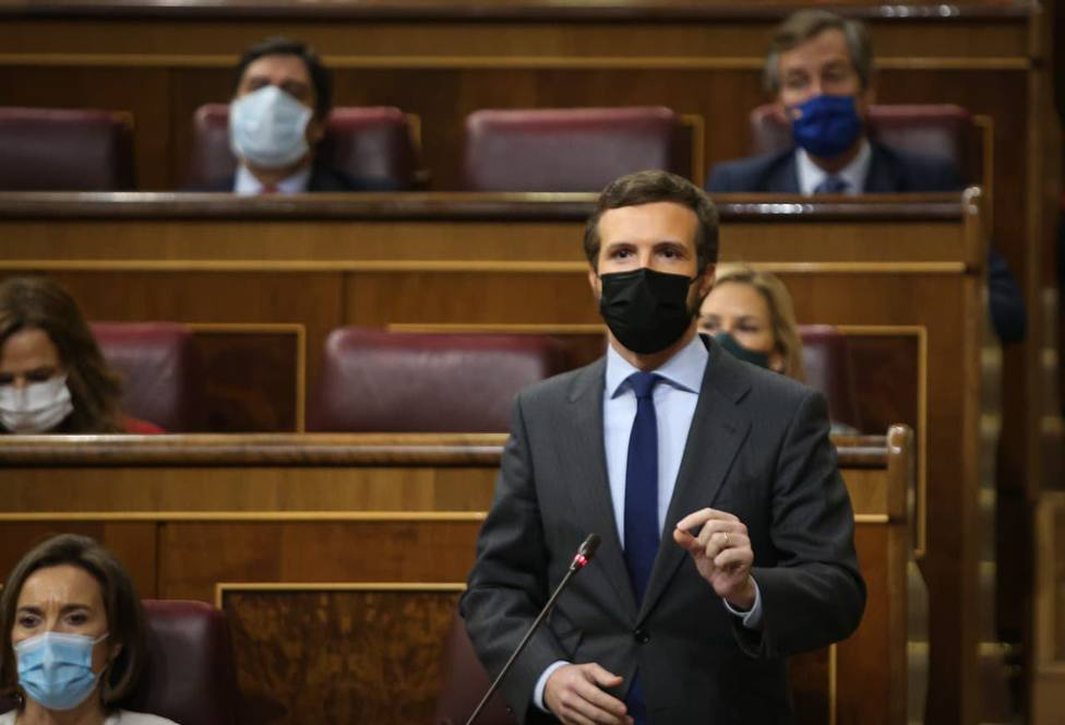 Pablo Casado en la sesión de Control al Gobierno en el Congreso de los Diputados