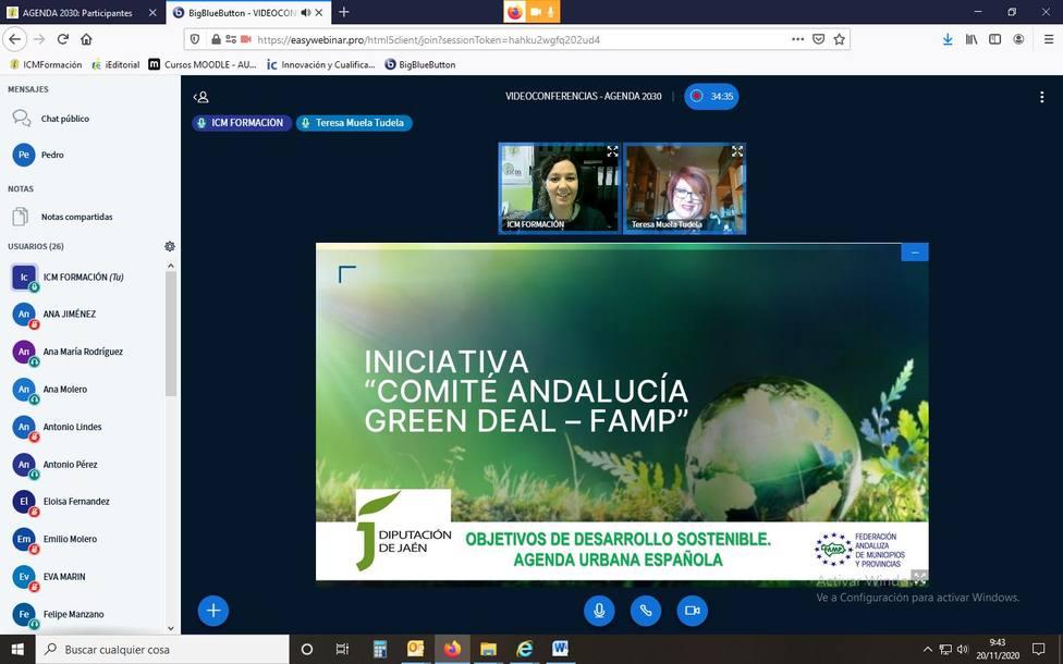 El Comité Andaluz Green Deal de la FAMP, protagonista de una jornada de la Diputación de Jaén