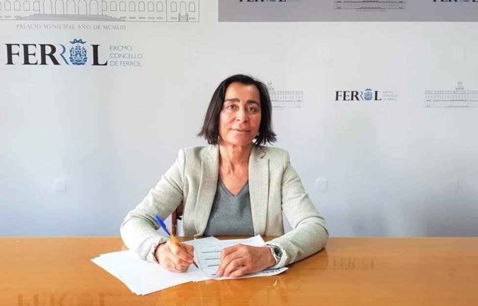 Elvira Miramontes es concejala del grupo municipal del PP de Ferrol