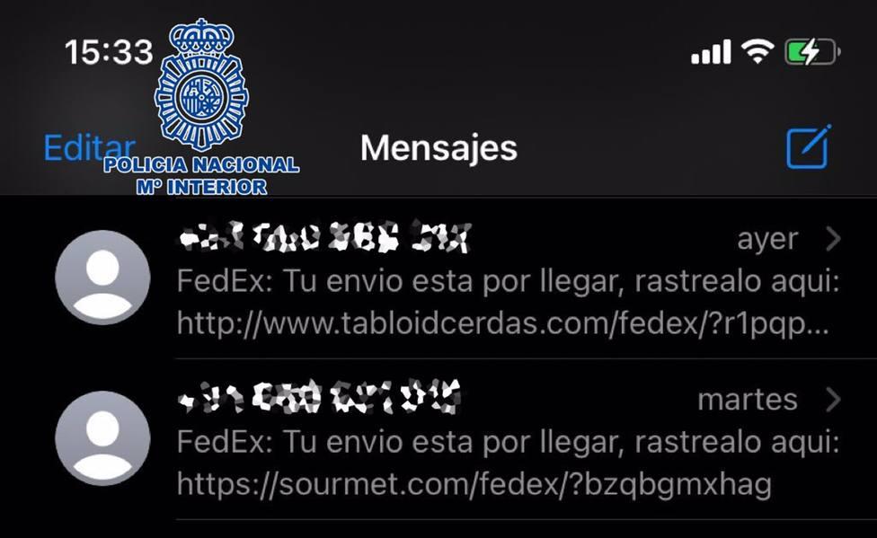 Almería.- La Policía Nacional avisa de una estafa mediante SMS fraudulentos para acceder a los datos de los móviles