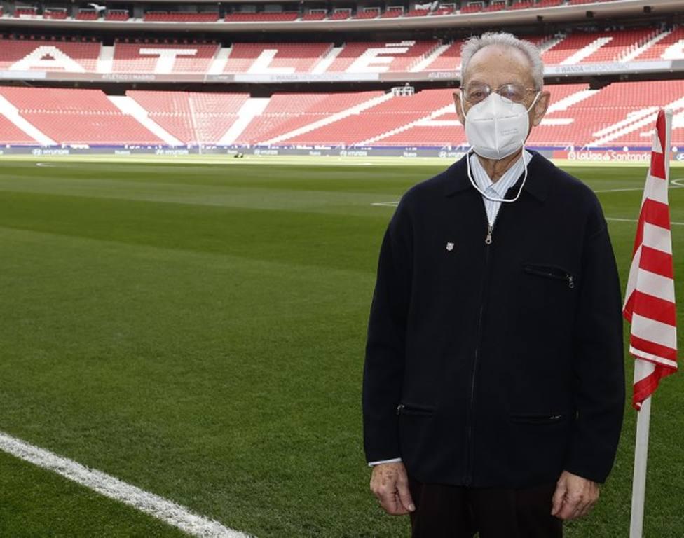 El socio número 1 del Atlético de Madrid, Pedro Palmero