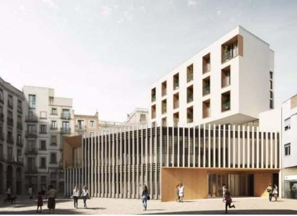 Barcelona combinará un casal de gente mayor y alojamientos con servicios colectivos