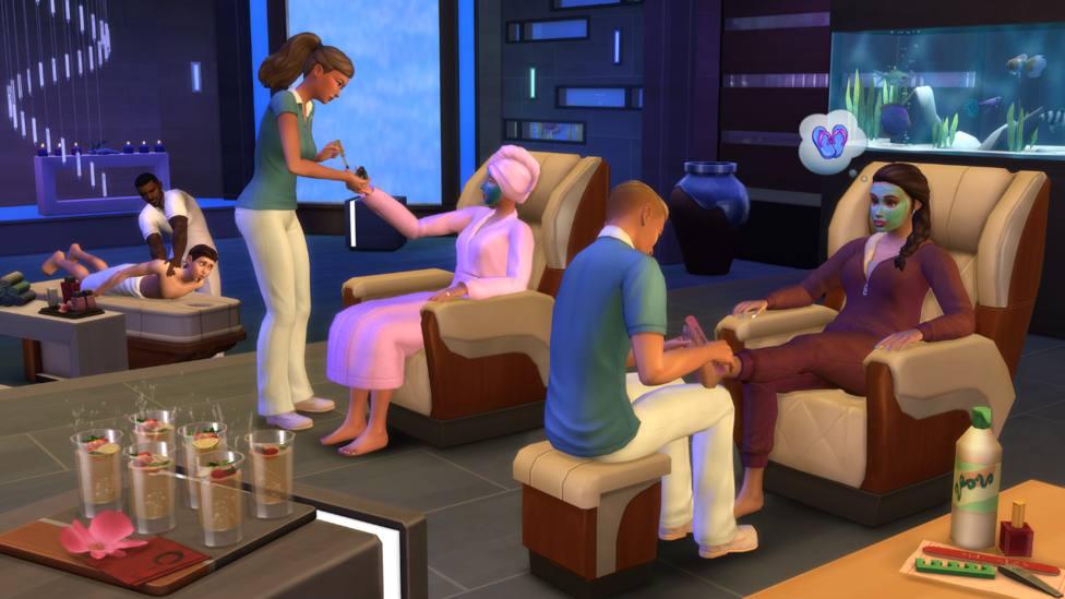Una nueva actualización del pack de contenido Los Sims 4 Día de Spa
