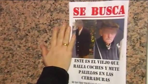La Fiscalía pide el internamiento psiquiátrico del anciano de Vigo que raya coches