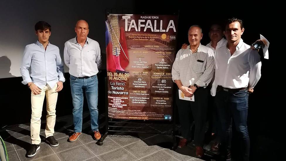 Acto de presentación de los carteles de la feria de Tafalla
