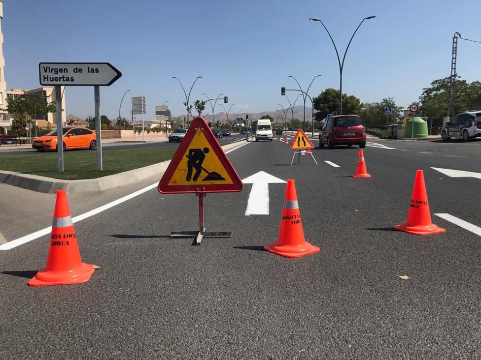 La Policía Local de Lorca pone en marcha una batería de trabajos de repintado de calles
