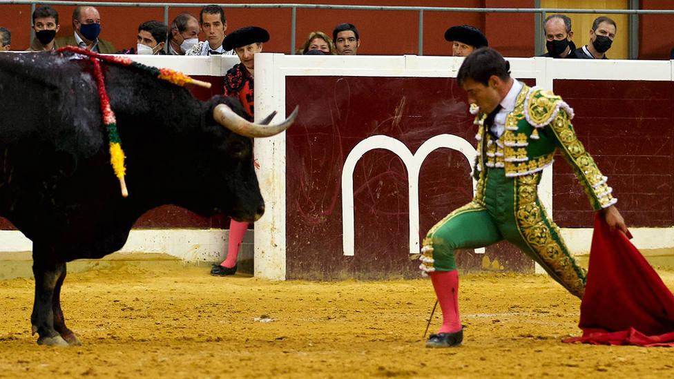 Desplante de Gómez del Pilar durante su actuación este sábado en Logroño