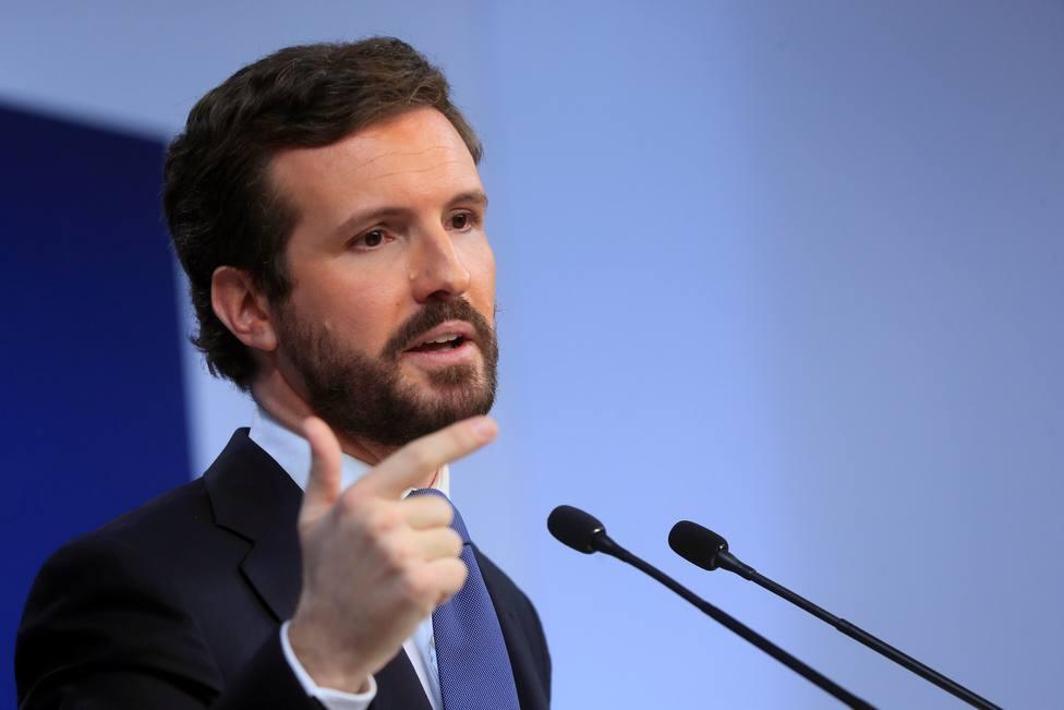 Casado reprocha al Gobierno su triunfalismo pese a presentar el peor aumento de paro de la UE