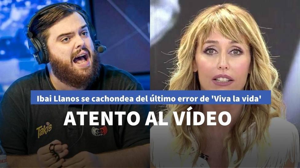 Ibai Llanos se cachondea de 'Viva la vida' tras el error que han cometido con su nombre: atento al vídeo