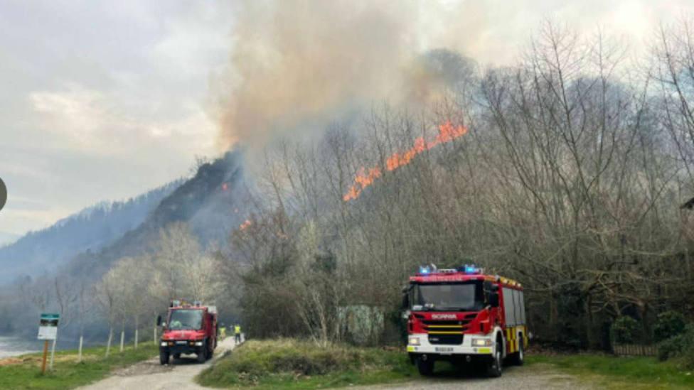 Las fuertes lluvias sofocan el peor incendio de la última década en Gipuzkoa
