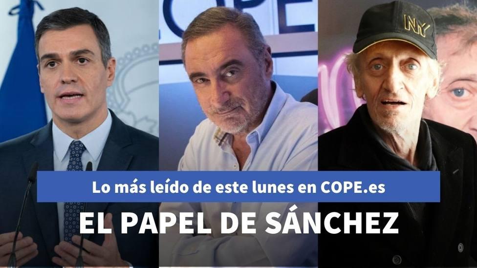 El papel de Sánchez en los disturbios de Cataluña destapado por Herrera, entre lo más leído de este lunes