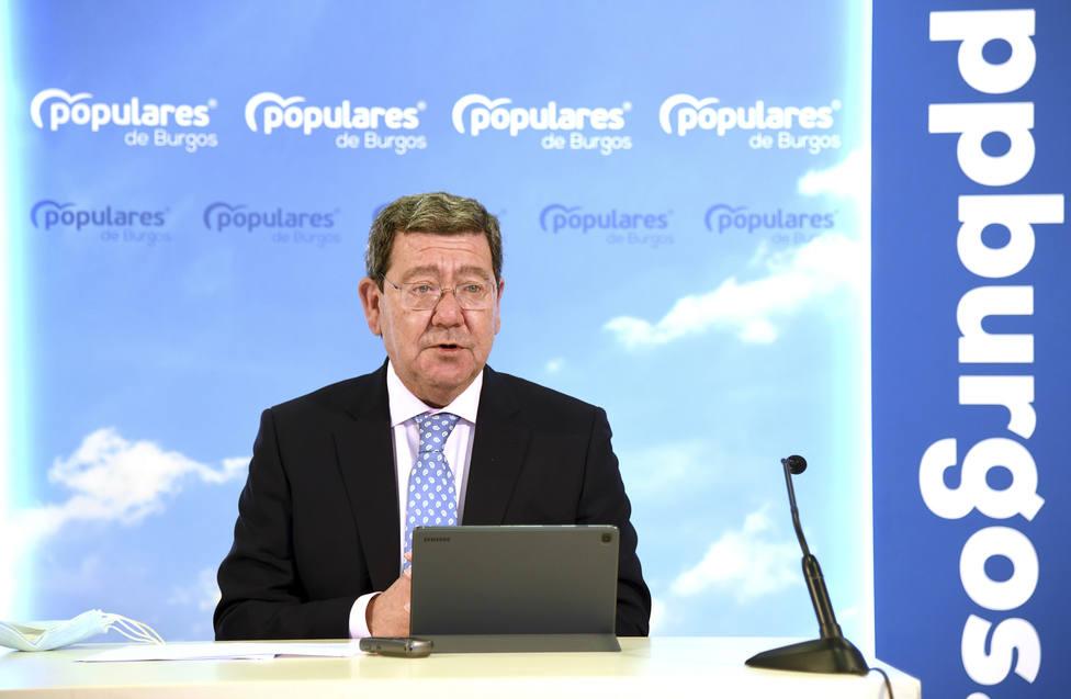 El presidente del PP de Burgos, César Rico