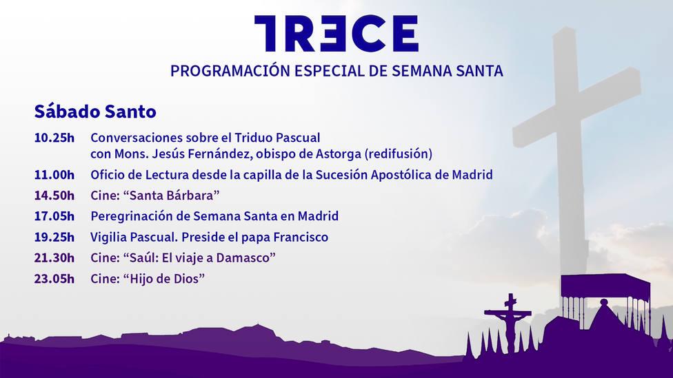 Este Sábado Santo vive en TRECE la Vigilia Pascual presidida por el Papa Francisco desde San Pedro