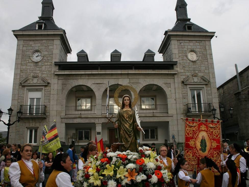 Imagen de archivo de la tradicional subida de Santa Quiteria