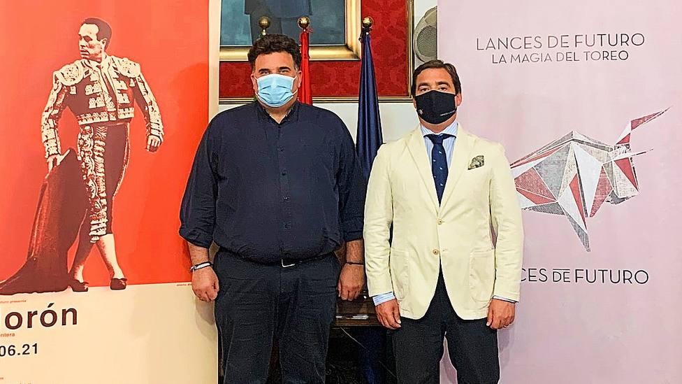 El alcalde de Morón de la Frontera, Juan Manuel Rodríguez, y el empresario José María Garzón