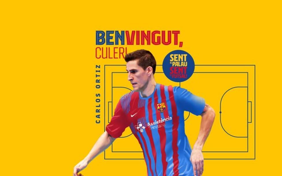 Presentación de Carlos Ortiz como nuevo jugador del Barça