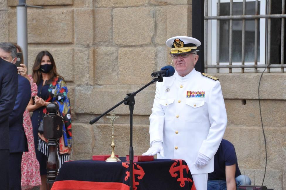 Ignacio Frutos Ruiz es el nuevo Almirante Jefe del Arsenal Militar de Ferrol. FOTO: Armada