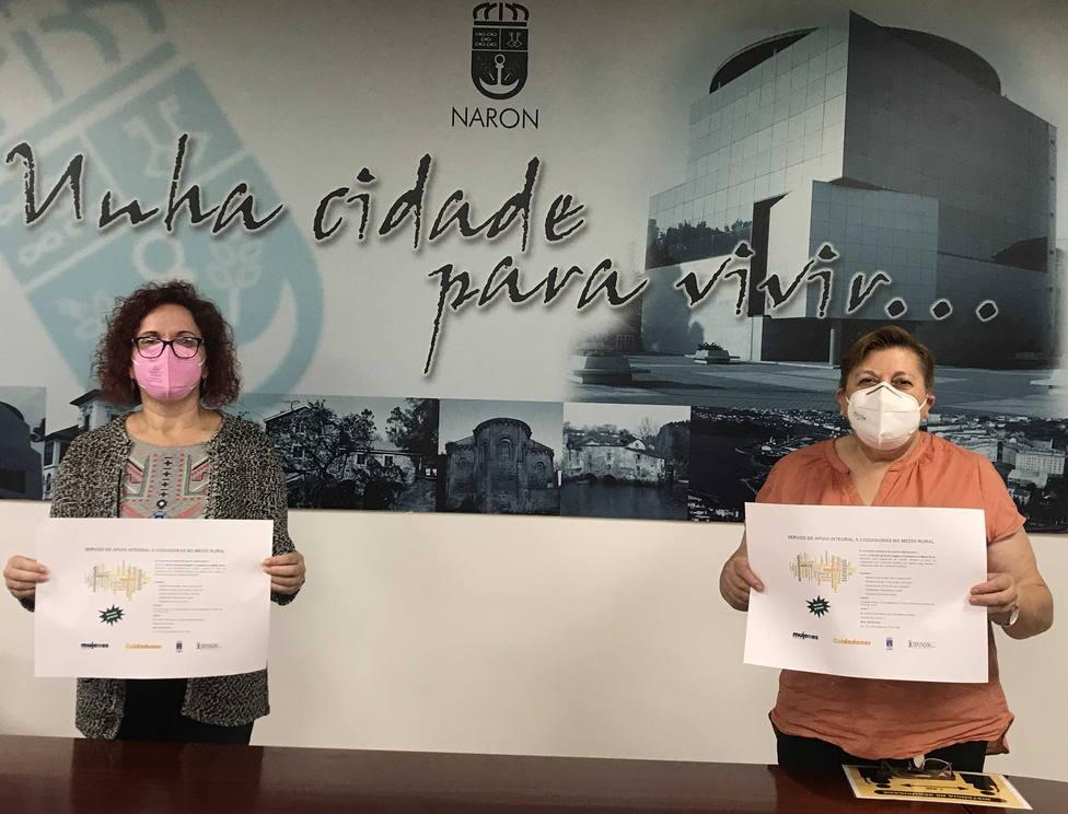 Las concejalas Catalina García y Mar Gómez. FOTO: concello de Narón