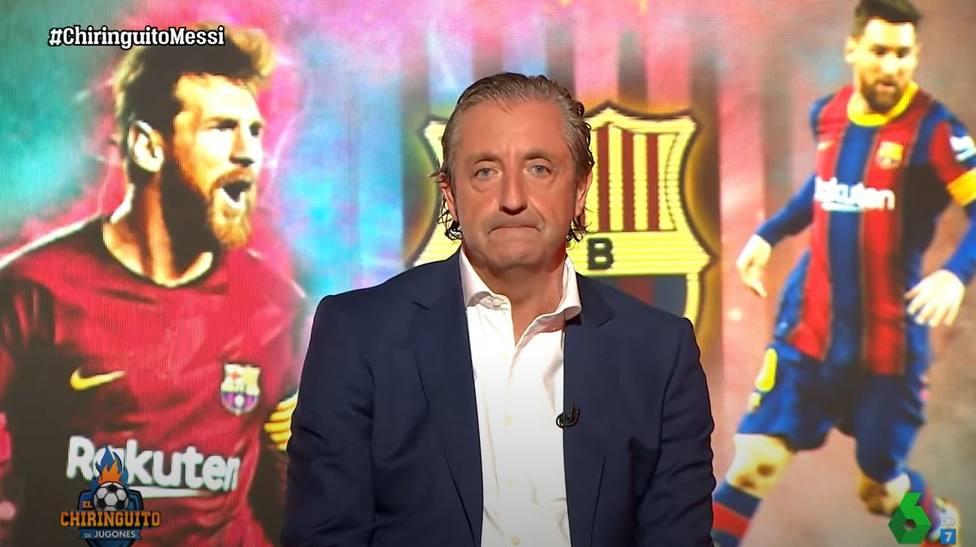 Josep Pedrerol en el adiós de Messi