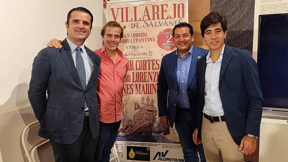 Acto de presentación del cartel de la Corrida Lepantina de Villarejo de Salvanés (Madrid)