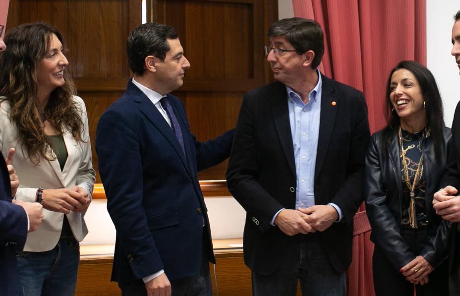 Cs acuerda con el PP-A asumir regeneración, educación, economía e igualdad en un Gobierno andaluz con 11 consejerías