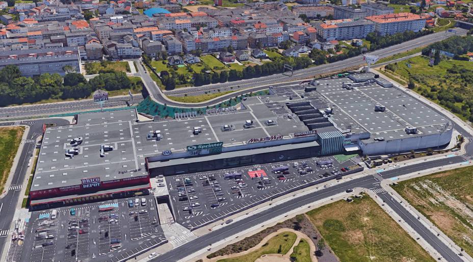 Vista aérea del centro comercial Parque Ferrol