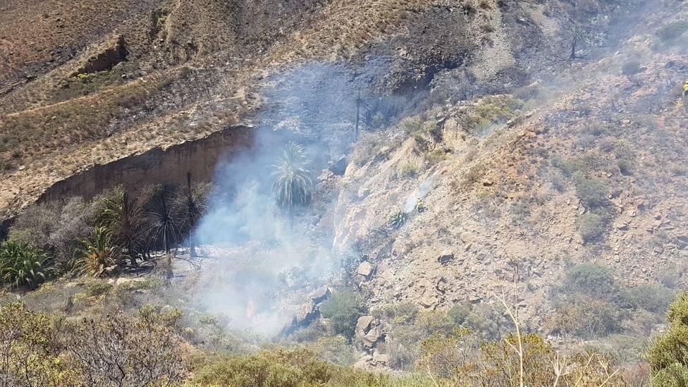 Descartan que el incendio de Fataga (Gran Canaria) se haya producido por causas naturales