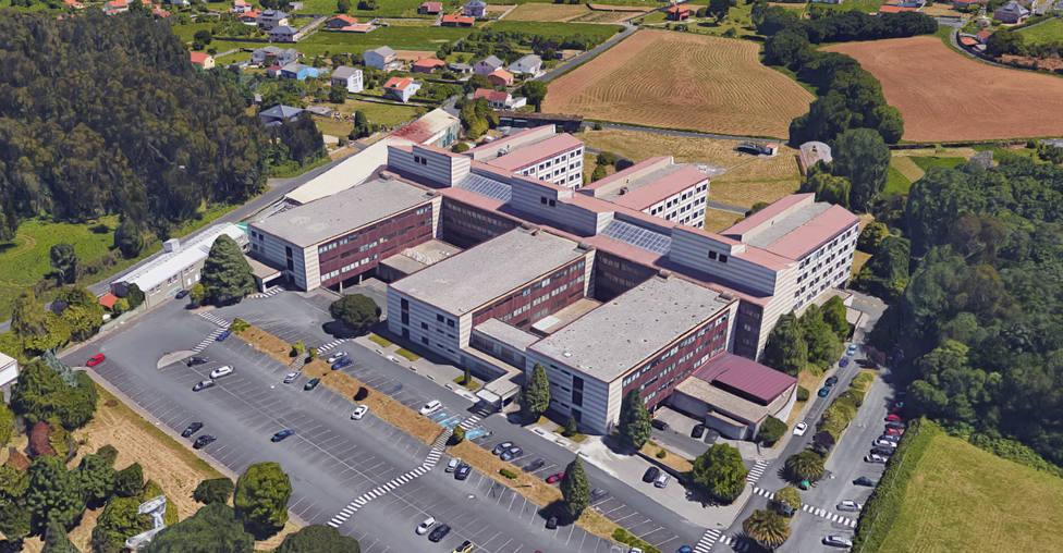 Vista aérea del Hospital Naval de Ferrol