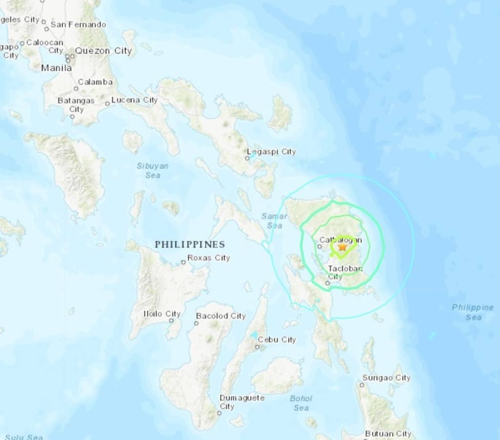 Registrado un nuevo terremoto de 6,3 con epicentro en el centro del archipiélago de Filipinas