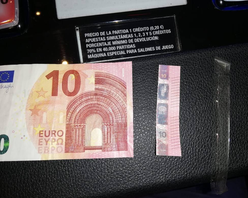 Localizan mas de 50 billetes de 10€ falsos tan bien hechos que ni las maquinas detectaron