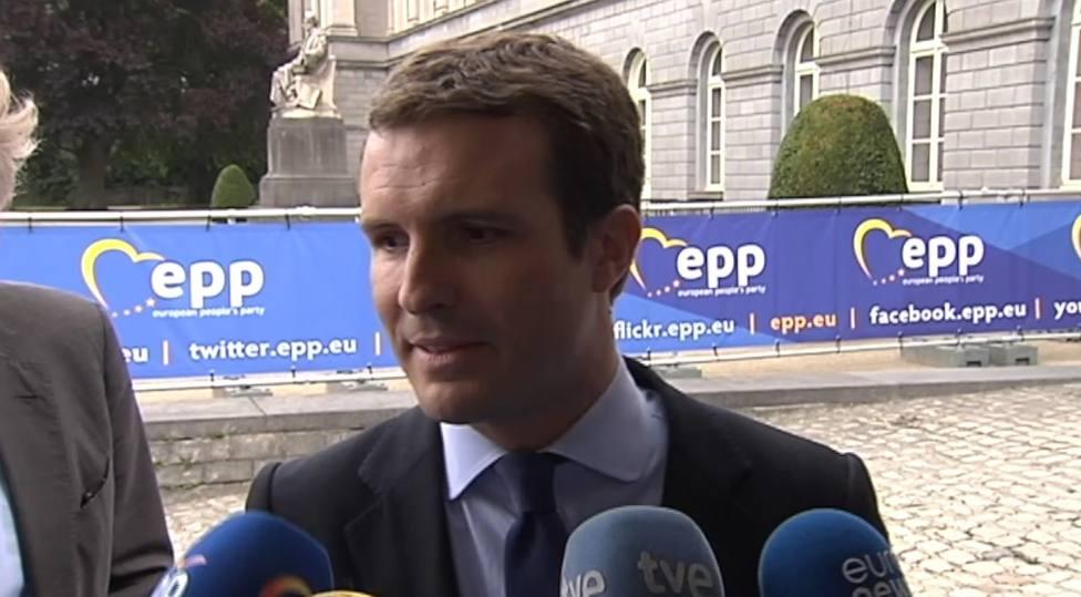 Casado defiende la trayectoria intachable de Weber y pide que el PPE también presida la Eurocámara
