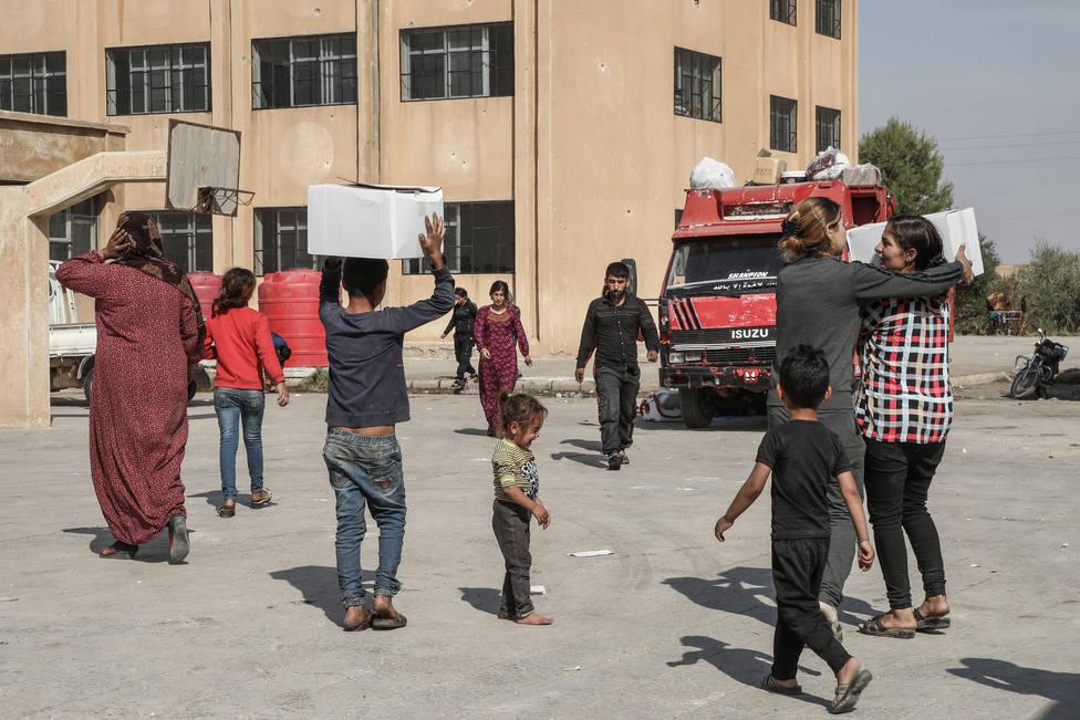 La ONU alerta de que ya son 1,8 millones las personas que necesitan ayuda humanitaria en el noreste de Siria