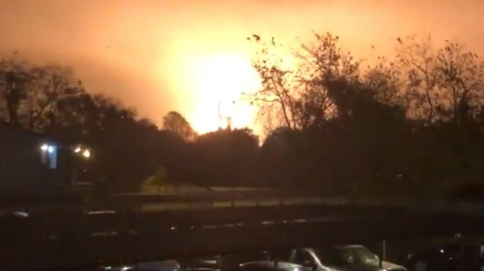La onda expansiva de la explosión ha llegado a kilómetros de distancia
