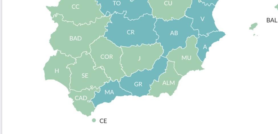 Mapa Málaga Fase I