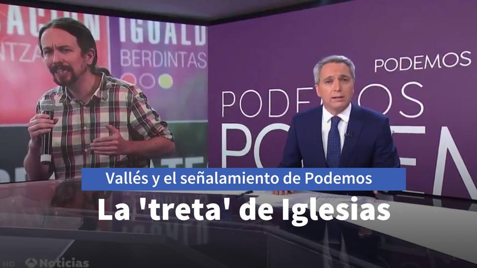 Vicente Vallés responde al señalamiento de Podemos y recuerda la treta usada por Iglesias