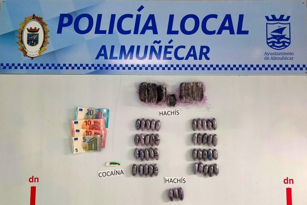 Droga incautada por la Policía Local de Almuñécar