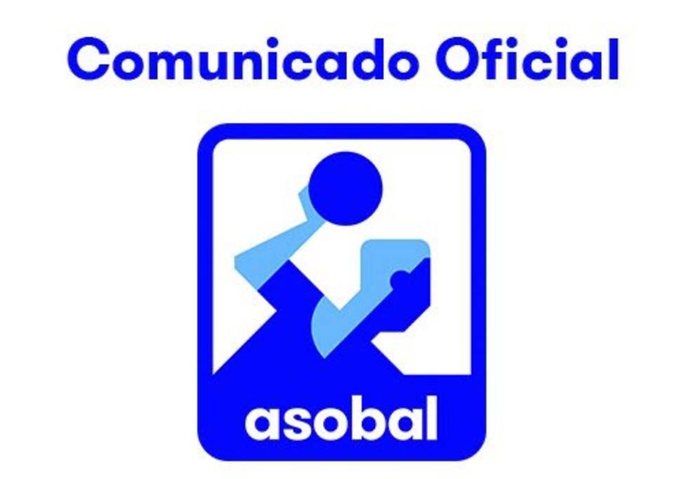 Comunicado oficial ASOBAL