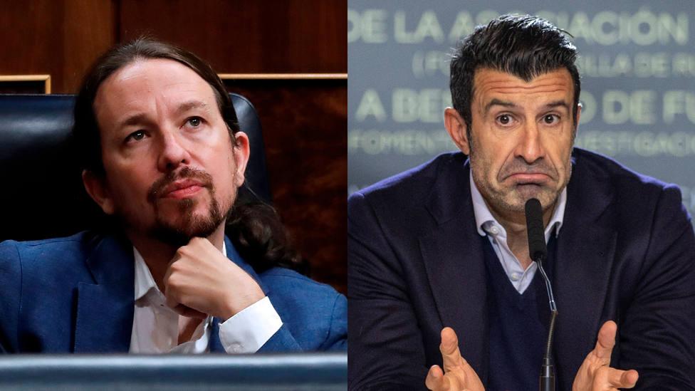 Luís Figo, sin cuartel contra Iglesias y Podemos: Se quema el rancho...