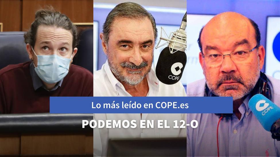El detalle en el que se fijó Herrera de los ministros de Podemos el 12-O, entre lo más leído de este martes