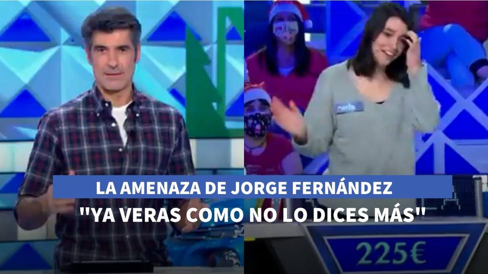 La amenaza de Jorge Fernández a una concursante de La ruleta de la suerte: Ya verás como no lo dices más